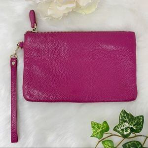 H & BUTLER Mighty Purse leather wristlet clutch